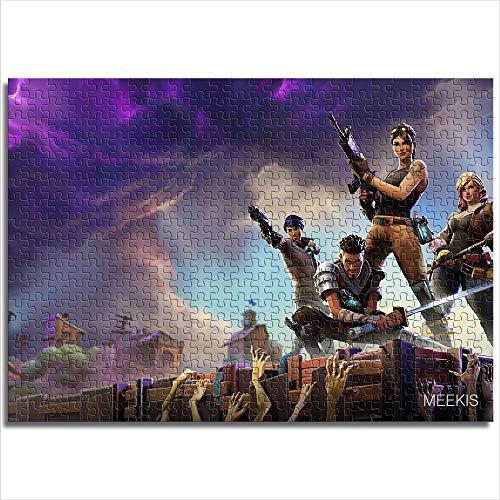 1000 Piezas de Rompecabezas para Adultos y niños Fortnite Fortnite HD Juego 1000 Rompecabezas para Adultos Divertido Rompecabezas 1000 Piezas(38x26cm)
