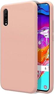 Funda Silicona Líquida Ultra Suave para Samsung Galaxy A70 Color Rosa