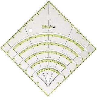 Cutogain Arcos Ventiladores Edredón Círculo Cortador Regla Regla de Corte Multifuncional Herramientas de Bricolaje con líneas de Doble Color