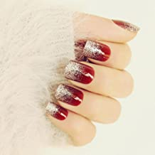 Best red sparkly fake nails Reviews
