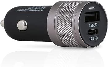 Wicked Chili シガーソケット USB カーチャージャー ターボID+USB C-PD機能搭載 急速充電 車載用 デュアル(36W アップル用)
