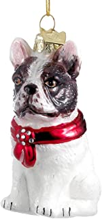 Kurt Adler Noble Gems French Bulldog Ornament