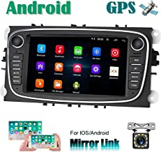 Android Car Radio para Ford GPS CAMECHO Pantalla táctil capacitiva de 7 Pulgadas estéreo para automóvil WiFi Bluetooth FM Dual USB para Ford Focus Mondeo C-MAX S-MAX Galaxy II Kuga