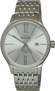 تي دبليو ستيل ساعة يد رجاليه بسوار ستانلس ستيل، TW1307