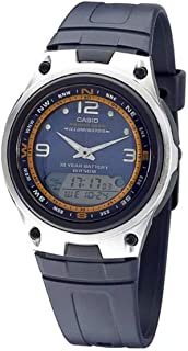 Casio Men's Blue Dial Resin Analog-Digital Watch - AW-82-2AVDF