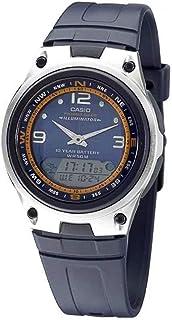 ساعة بد بمينا ازرق وسوار من الراتنج وعرض انالوج رقمي للرجال من كاسيو موديل AW-82-2AVDF