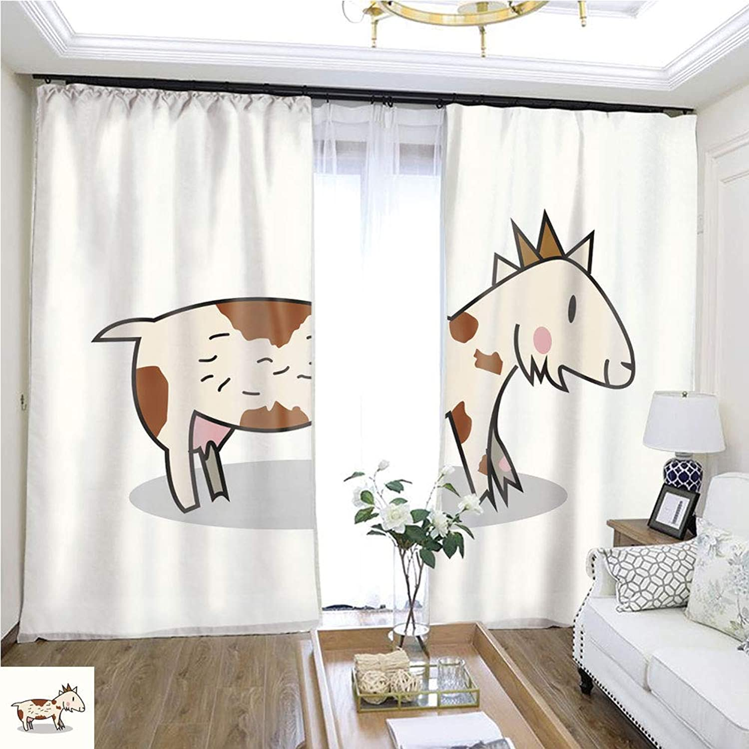Air Port Screen Cute goat1 W108 x L86 Provide Heat Highprecision Curtains for bedrooms Living Rooms Kitchens etc.