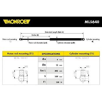 Monroe ML5690 V/érins /à Gaz Maxlift Coffre