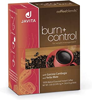 Javita (burn + control) Gourmet Instant Coffee for Weight Loss (1)