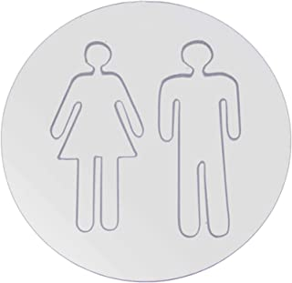 Générique Minshang 1 Ensemble de Panneaux de Toilette Auto-adhésifs Autocollants muraux de WC Autocollant de Porte de Sign...