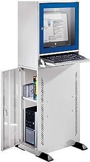 Computer Placard, modèle standard, gris clair/bleu Gentiane.