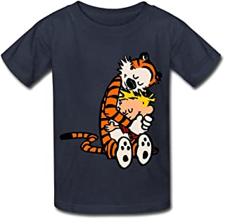 Kids Boys Girls Tshirt Thomas Calvin And Hobbes Tiger Anime Navy Size M