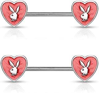 316L Stainless Steel Red Eye Fox WildKlass Nipple Bar