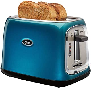 Oster TSSTTRJB0T 2-Slice Kitchen Toaster with Extra Wide Slots Metallic, Turquoise Blue