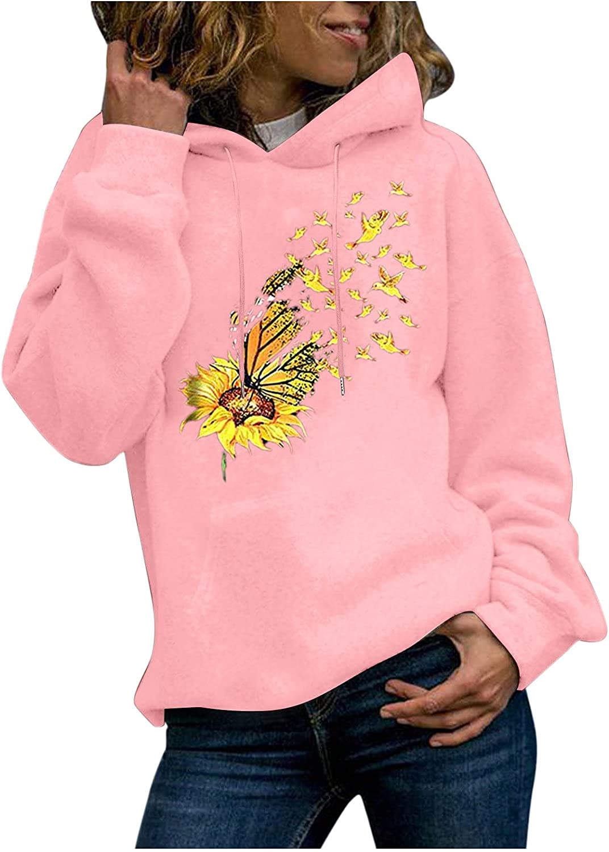 UOCUFY Hoodies for Women, Women Girls Cute Printed Long Sleeve Pullover Sweaters Casual Loose Sweatshirts Tops