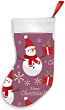 Snowman Santa Hat Snowflake Christmas Holidays Christmas Stockings 16.5 Inch Plush Decorations for Family Celebrate Season...