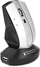 fosa Wireless Mouse, 2.4GHz Rechargeable Mice Optical PC Computer Laptop Gaming Mouse With Charging Dock Stand 3-Port USB Hub(Gray)