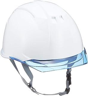 DICプラスチック ヘルメット AA11EVO-CS 透明ひさし・保護シールド面・スチロールライナー付 白/ブルー AA11-CS-HA6E2-A11-WH-BL