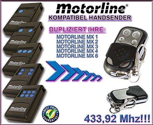 Motorline MX1 / MX2 / MX3 / MX4 / MX6 kompatibel handsender, klone fernbedienung, 4-kanal 433,92Mhz fixed code. Top Qualität Kopiergerät!!!