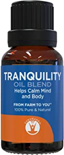 TRANQUILITY Essential Oil Blend - Essential Oils For Peace -  Save With GuruNanda Essential Oil Synergy Blend - 100% Pure Therapeutic Grade - Undiluted - 15 ml