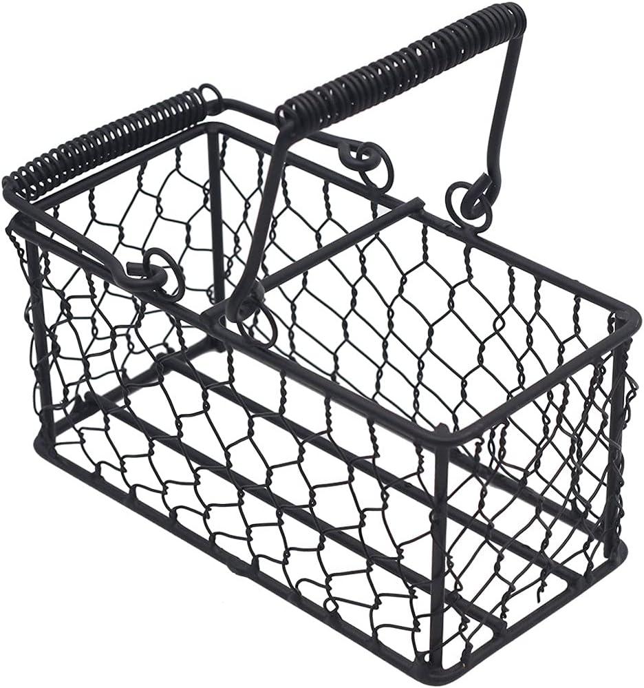 Mason Jar Lifestyle Caddy for 2 Pint Mason Jars in Chicken Wire