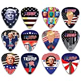 Donald Trump President Collectors Guitar Picks Series 1 (12-Pack) - Presidential Campaign Election Music Gifts Accessories for Husband Dad Boys Son Men Him Boyfriend Musician Gift – Cool Guitar Tool