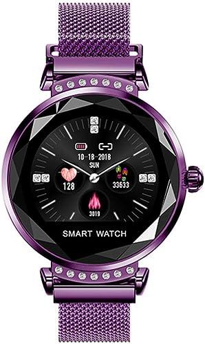 AUNLPB Montre Intelligente, Montre-Bracelet à écran Tactile, Moniteur de Suivi de Remise en Forme intelligent regarder Sports, Montre de fréquence voiturediaque et d'activité Toute la journée, IP67 étanche