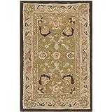 Safavieh Anatolia Collection AN512C Handmade Traditional Oriental Sage and Beige Premium Wool Area Rug (2' x 3')
