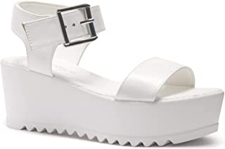 203f70c5b8237 Amazon.com: White - Platforms & Wedges / Sandals: Clothing, Shoes ...