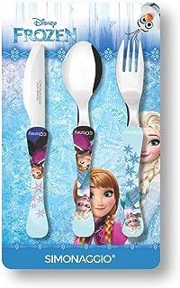 Jogo de Talheres Infantil Disney Kids Frozen, Simonaggio, Multicor, Pacote de 3