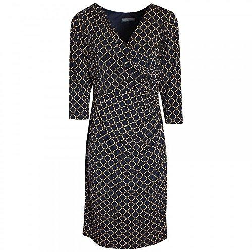 Michaela Louisa Cross Over Printed Dress 10 Navy Multi