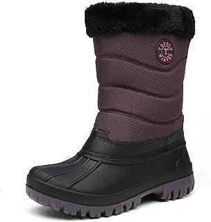 TQGOLD Bottes de Neige Femme Hiver Boots Fourrure Doublée Chauds Anti-dérapants Bottes de Randonnée