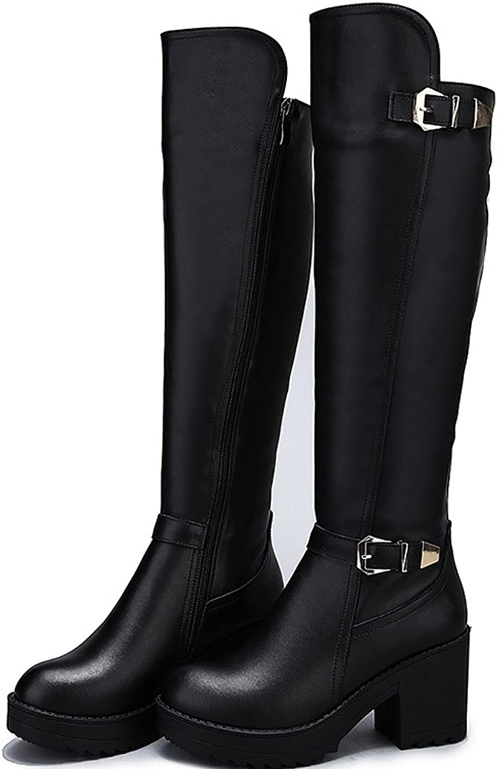 BOFO Women's Cow Leather Martin Boots