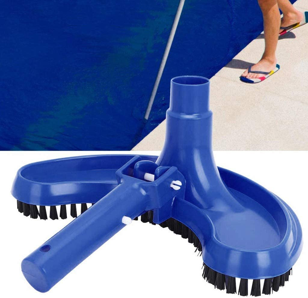 Vacuum Cleaner Pool Leaf Sucker with Brush Blue chengzi juzi Pool Vacuum Head Fit for Any Standard Retractable Pole Swimming Pool Curved Suction Head Half Moon Cleaning Accessory
