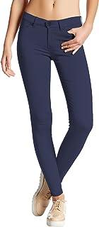 Hybrid & Company Hybrid Womens Hyper Ultra Stretch Comfy Skinny Pants, Capri, Bermuda