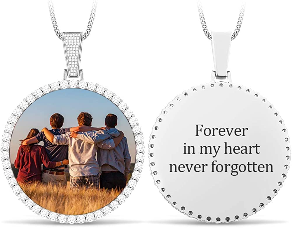 YIMERAIRE Direct sale of manufacturer Personalized Photo Necklace low-pricing with Steel Chain Stainless