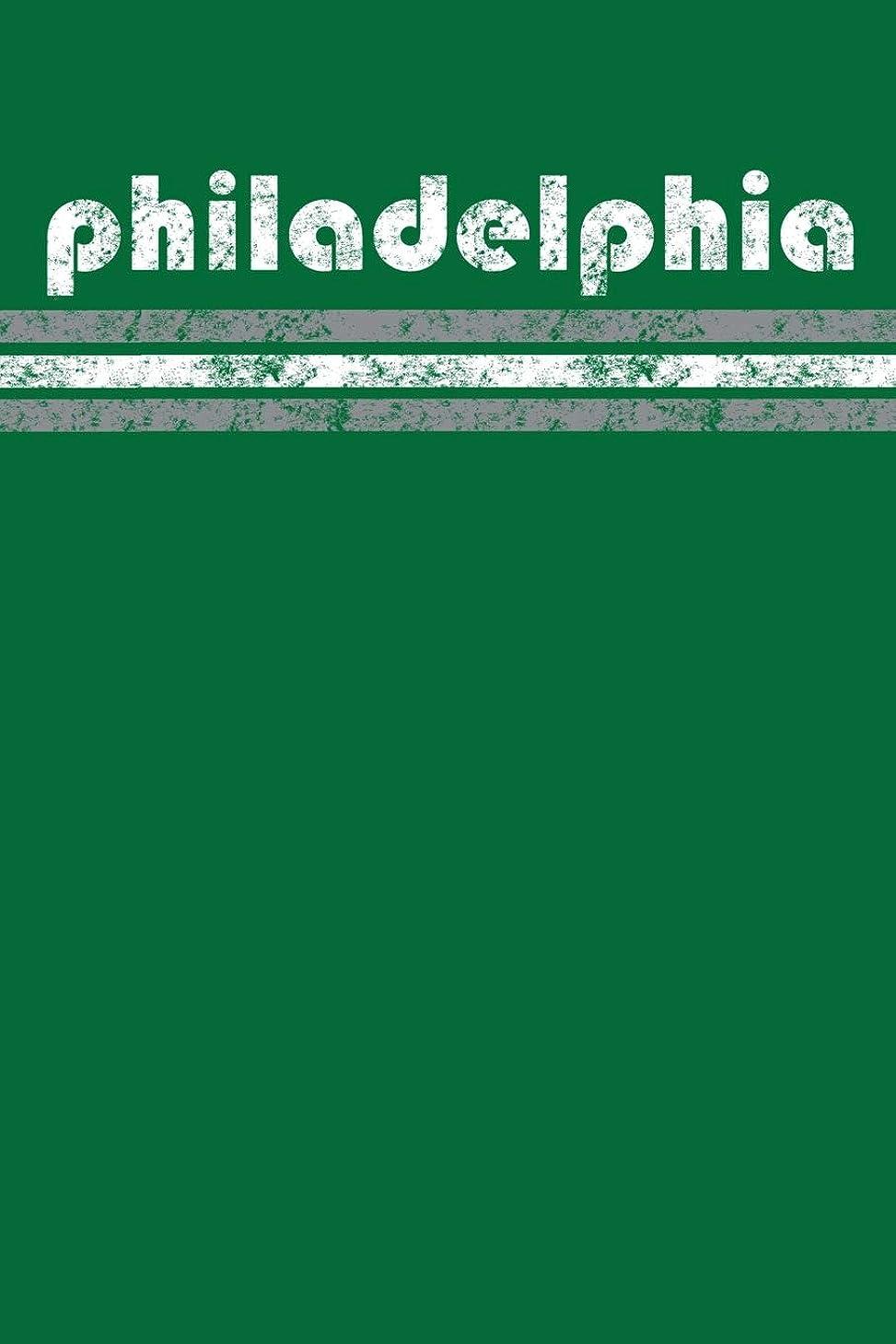 インポート自由胃Philadelphia: Pennsylvania Journal Planner Retro Vintage Weathered 90 Pages Green