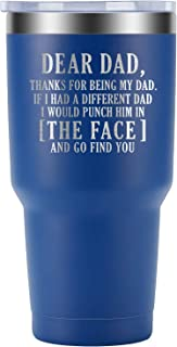 Dad Gifts, Gifts for Dad - Thanks for Being My Dad Mug - Best Dad Gifts from Daughter, Son - Dad Birthday Gifts, Christmas Gifts for Dad - New Dad, Papa, Father Gift - GSPY Engraved Wine Tumbler
