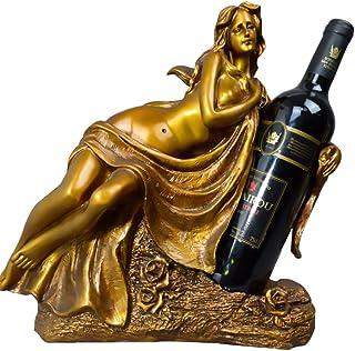 Casier à vin Bureau Femme Sculpture Casier à vin Élégant Creative Porte-Bouteille De Vin Décoration de La Maison Artisanat...