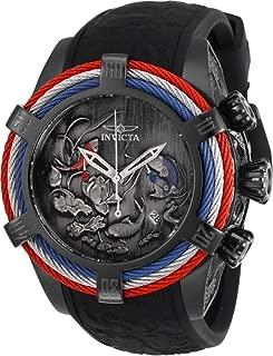 28216 Men's Bolt Zeus Black Silicone Strap Chrono Watch