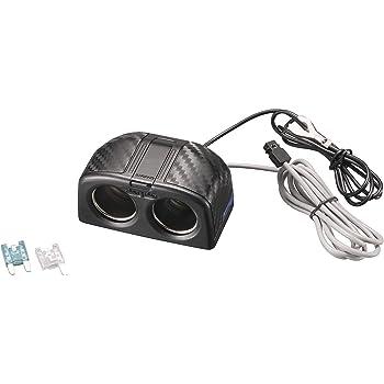 【Amazon.co.jp 限定】カーメイト 車用 ソケット シガーソケット ミニ平タイプ ドライブレコーダー に最適な7A CZ493