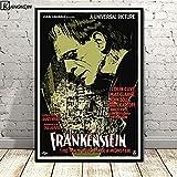 Lienzo de arte de pared 50x70cm Sin marco Frankenstein Universal Monsters Película...