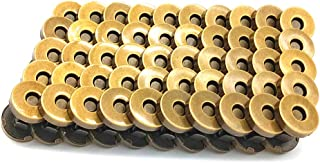 100 Sets Magnetic Purse Snap Clasps Button/Great for Closure Purse Handbag Clothes Sewing Craft Silver (14mm Bronze)