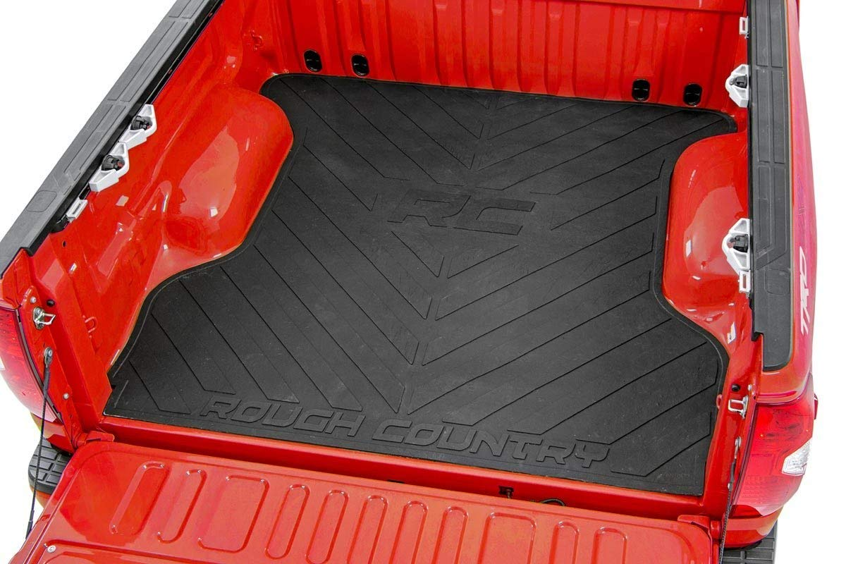 Amazon Com Rough Country Rubber Bed Mat Fits 2019 2021 Ranger 6 Ft Bed Recycled Bed Liner Rcm664 Rough Country Automotive