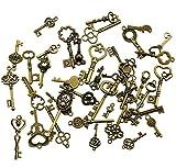 40 pièces Antique Bronze Vintage Squelette Clés Charmes DIY Kits pour...