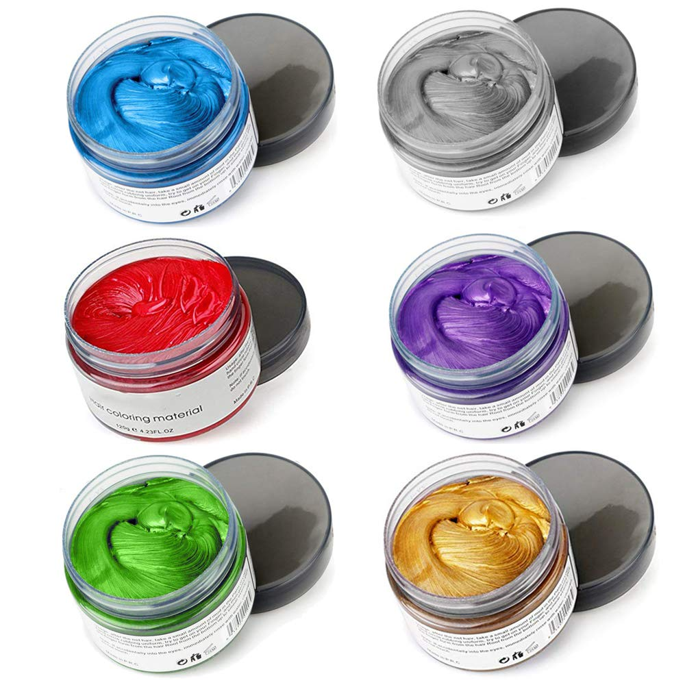 6 Colors Hair Color Wax - in Outlet SALE Gold Purple Blue Green Sliver Large special price 1 P