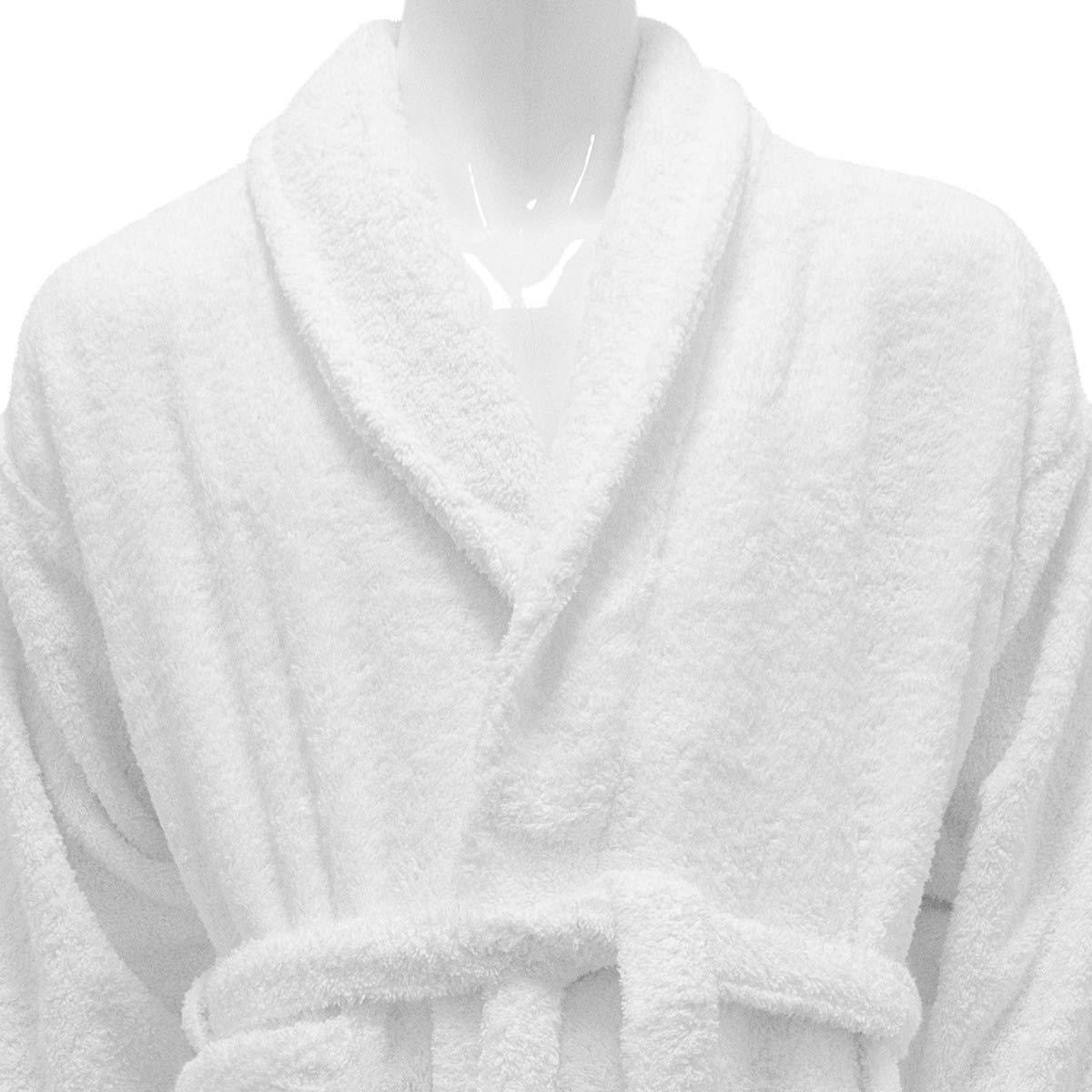 Hotel and Spa Edition - Albornoz de rizo (100% algodón), color blanco, 100% algodón, Blanco, X-Large: Amazon.es: Hogar