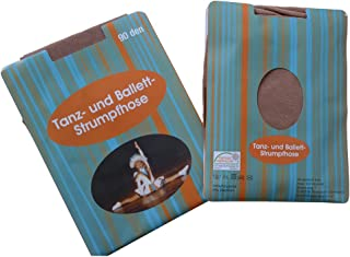 Peko Tanzstrumpfhosen 3er Pack Cheerleader Garde Tanzmariechen Ballett 90den Strumpfhose mit Glanz make up