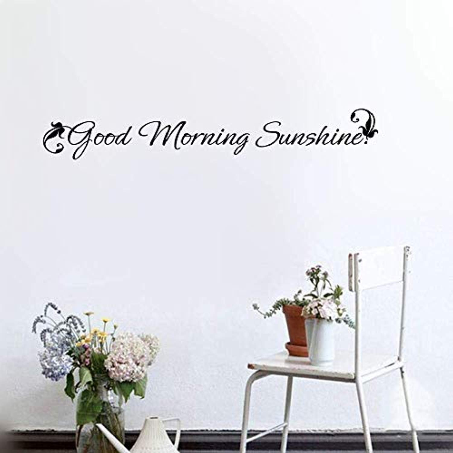 Removable Decal Good Morning Sunshine Decal Written Wall Decals Mural Decor Vinyl Sticker Sk2048 W35 H5 Baby