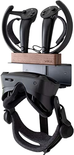 VRGE - Valve Index VR Wall Mount Charging Stand Station : Holds Both Valve Index VR Headset and charges USB VR Contro...